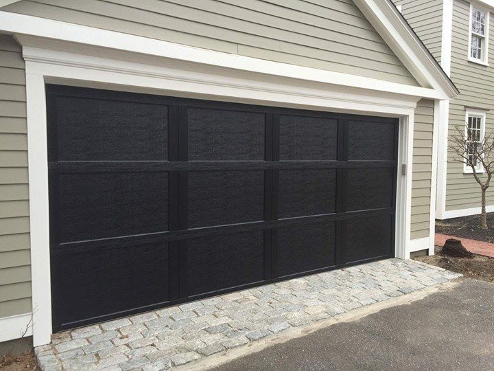 High Quality Residential Black Steel Garage Door